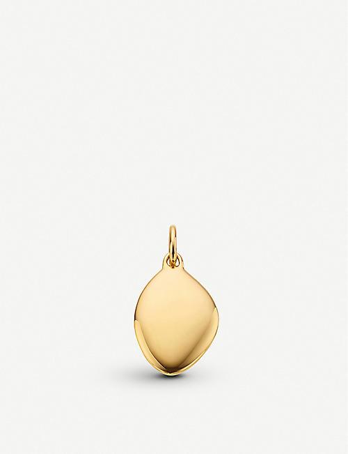 ea9848614d0e MONICA VINADER Nura Teardrop 18ct yellow-gold vermeil pendant