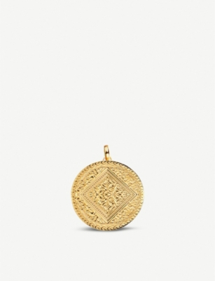 MONICA VINADER Marie 18ct yellow-gold vermeil mini pendant