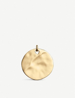 MONICA VINADER Ziggy hammered 18ct yellow-gold vermeil and sterling silver pendant charm