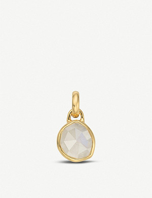 MONICA VINADER Siren mini 18ct yellow-gold vermeil and moonstone pendant