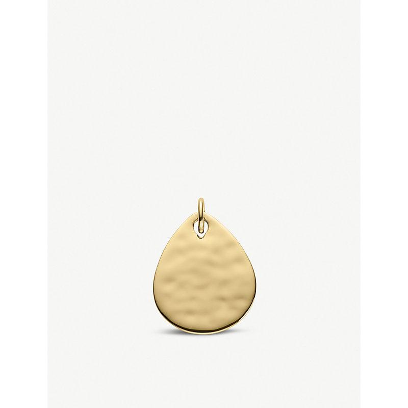 MONICA VINADER | Ziggy Petal 18ct Yellow-Gold Vermeil Pendant | Goxip