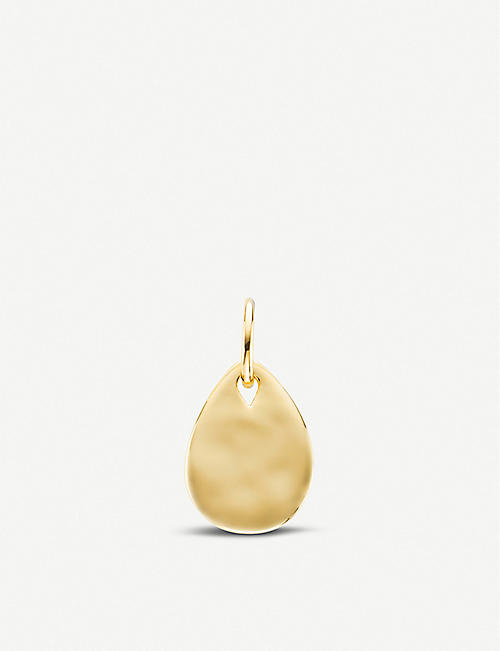 MONICA VINADER Ziggy mini 18ct yellow-gold plated pendant