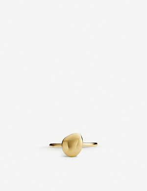 MONICA VINADER Nura Pebble 18ct yellow-gold vermeil stacking ring