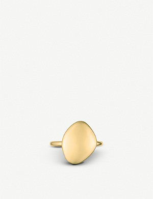MONICA VINADER Nura Teardrop 18ct yellow-gold vermeil ring