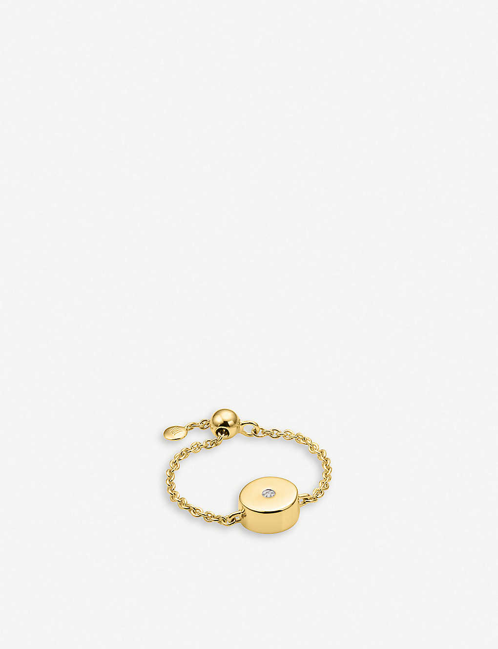 0afcf811c MONICA VINADER - Linear Solo 18ct yellow-gold vermeil and diamond ...