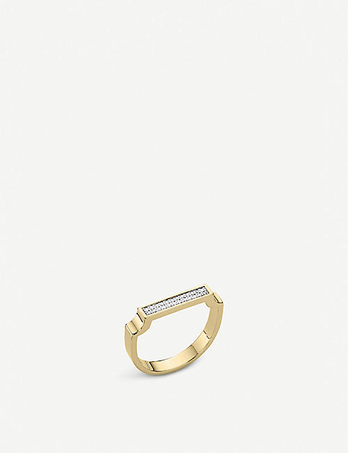 MONICA VINADER Signature 18ct yellow-gold vermeil and diamond ring