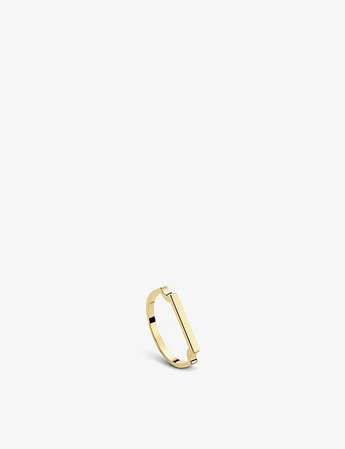 MONICA VINADER: Signature 18ct yellow-gold vermeil thin ring