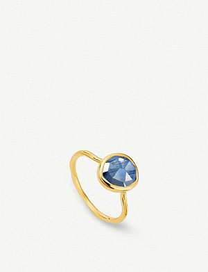 MONICA VINADER Siren 18ct gold vermeil and kyanite stacking ring