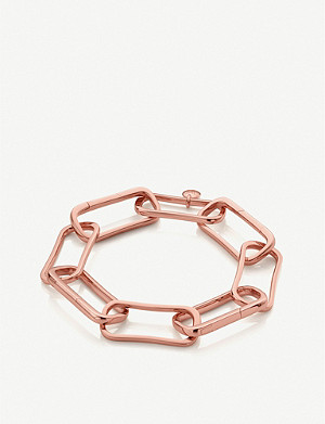 MONICA VINADER Alta Capture Charm 18ct rose gold-vermeil large link bracelet
