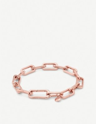 MONICA VINADER Alta Capture 18ct rose-gold vermeil charm bracelet