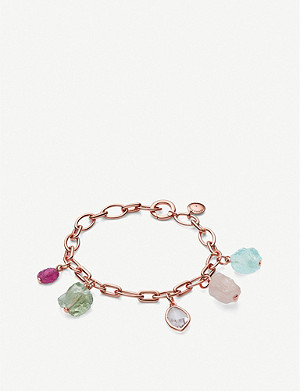 MONICA VINADER Monica Vinader x Caroline Issa 18ct rose gold-vermeil and gemstone bracelet