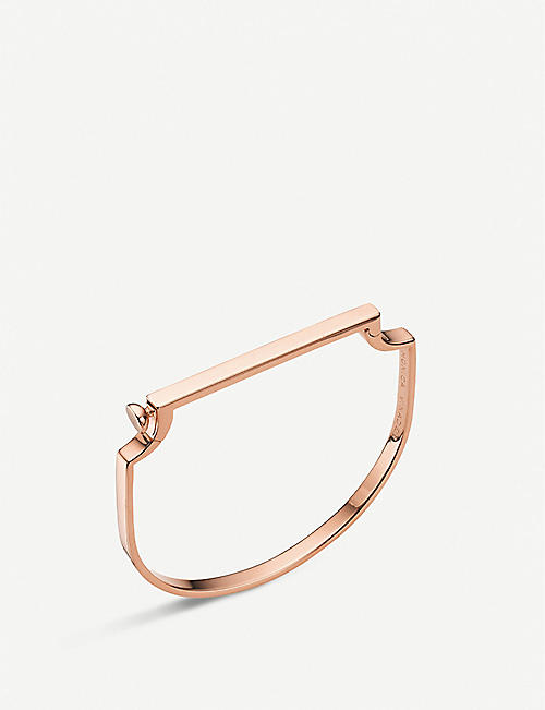 MONICA VINADER: Signature 18ct rose-gold vermeil sterling silver bangle