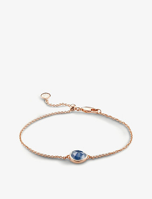 MONICA VINADER Siren 18ct rose-gold vermeil and kyanite bracelet