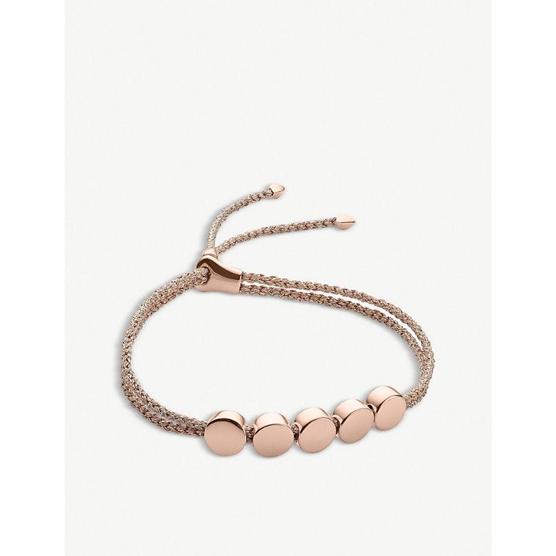 MONICA VINADER | Monica Vinader Linear Bead 18ct Rose-Gold Plated Friendship Bracelet, Women'S | Goxip