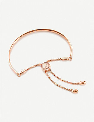 MONICA VINADER: Fiji 18ct rose gold-plated vermeil silver petite friendship bracelet