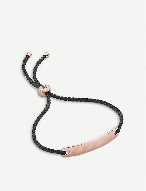 04f05e0dc47e MONICA VINADER Havana 18ct rose-gold vermeil mini friendship bracelet