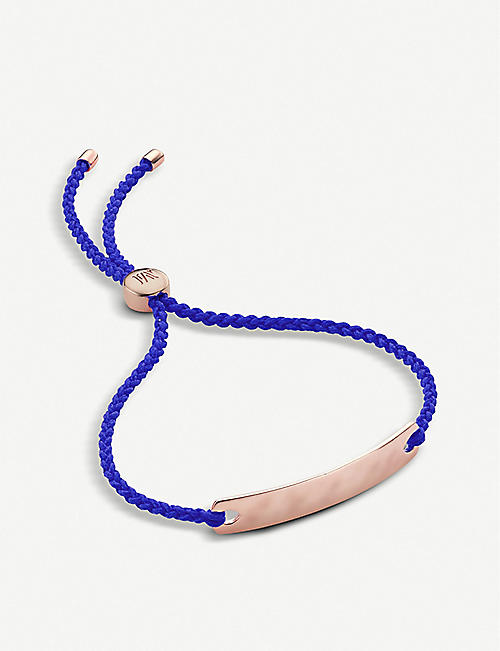 MONICA VINADER Havana 18ct rose-gold vermeil mini friendship bracelet