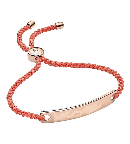 MONICA VINADER - Havana 18ct rose gold-plated friendship bracelet