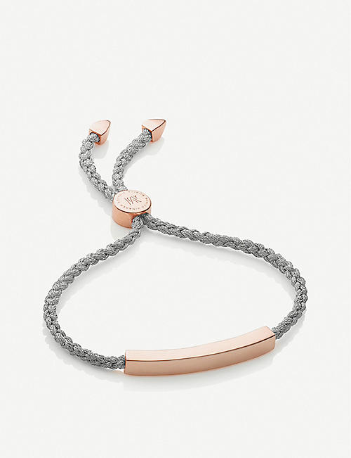 MONICA VINADER Linear 18ct rose gold-plated and sterling-silver bracelet