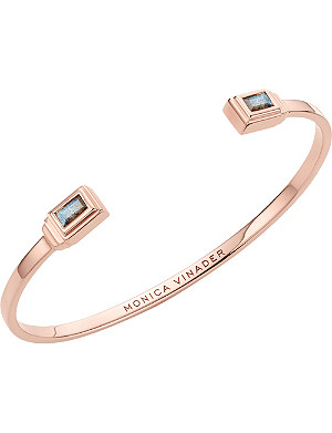 MONICA VINADER Baja Deco 18ct Rose Gold and Labradorite Cuff