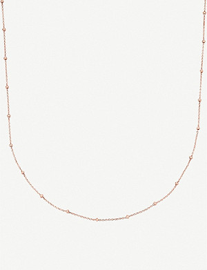 MONICA VINADER 18ct rose-gold vermeil chain necklace