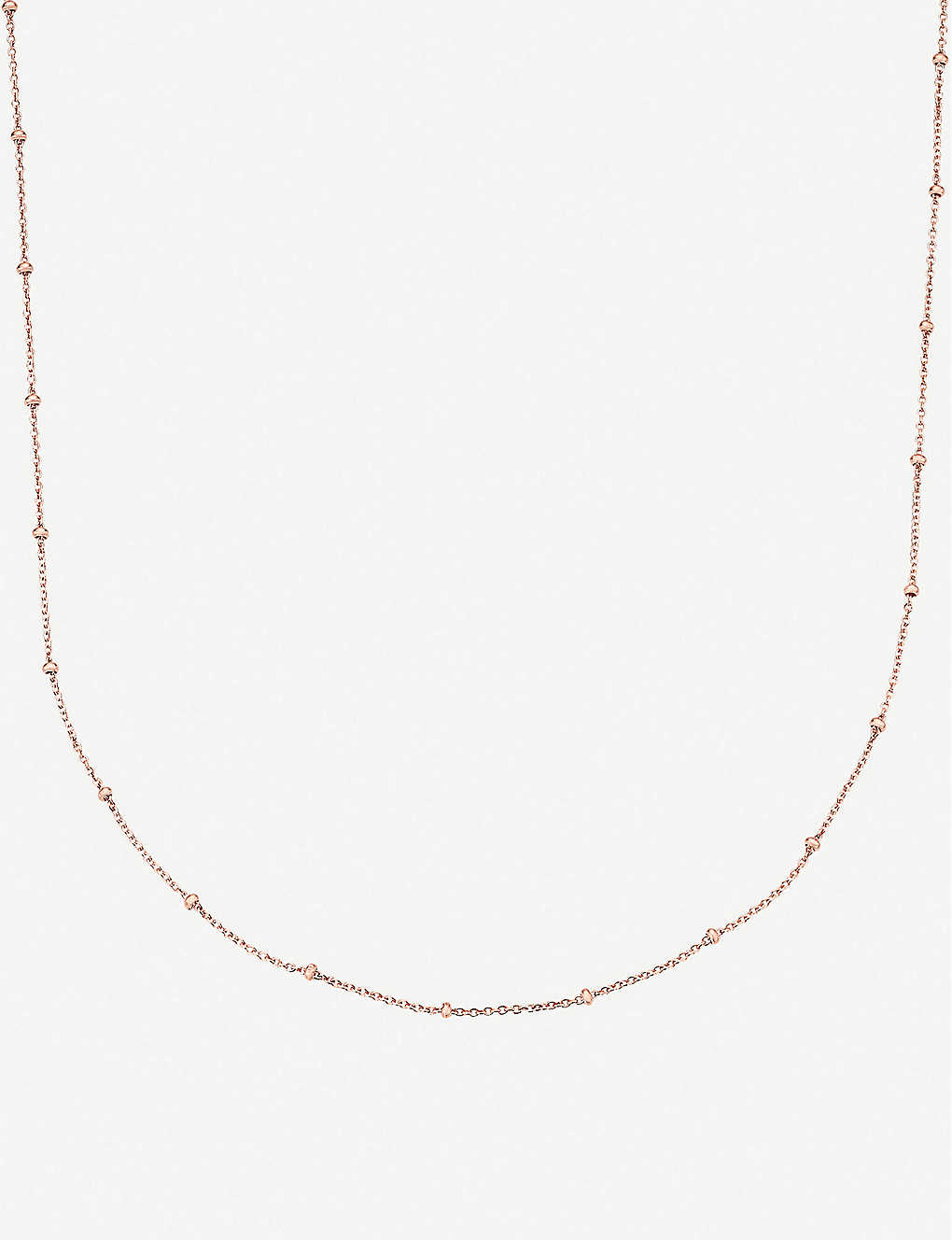 MONICA VINADER: 18ct rose-gold vermeil chain necklace