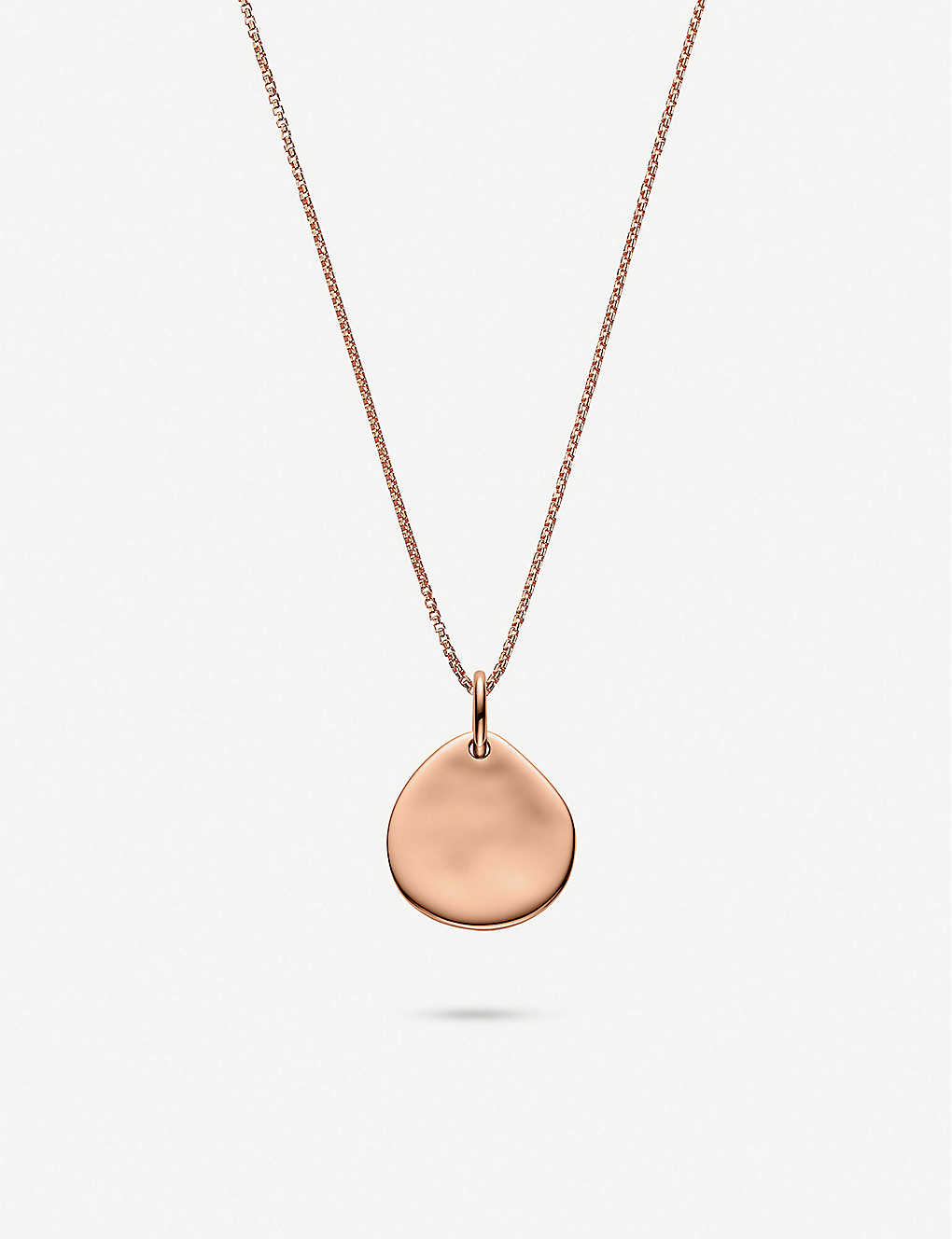 MONICA VINADER: Fine oval box 18ct rose gold-plated vermeil sterling silver chain