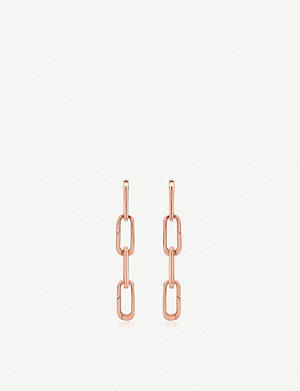 MONICA VINADER Alta Capture Charm Cocktail 18ct rose gold-vermeil link earrings