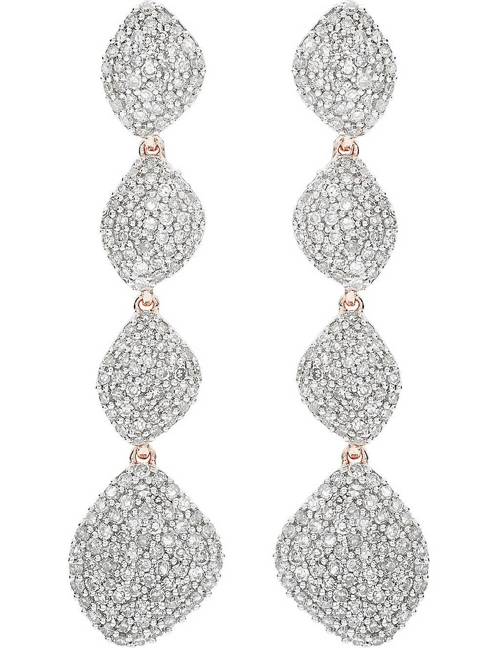 b8dbed9037b35 MONICA VINADER - Nura Teardrop 18ct rose-gold vermeil and diamond ...