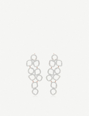 MONICA VINADER Riva Cluster 18ct rose-gold vermeil diamond earrings