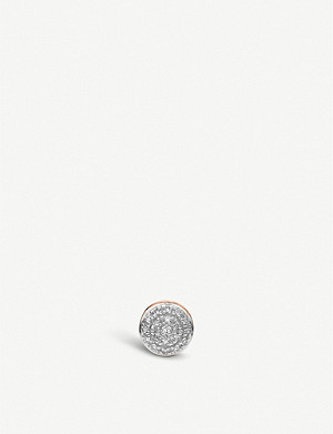 MONICA VINADER Fiji Button sterling silver and diamond single stud earring