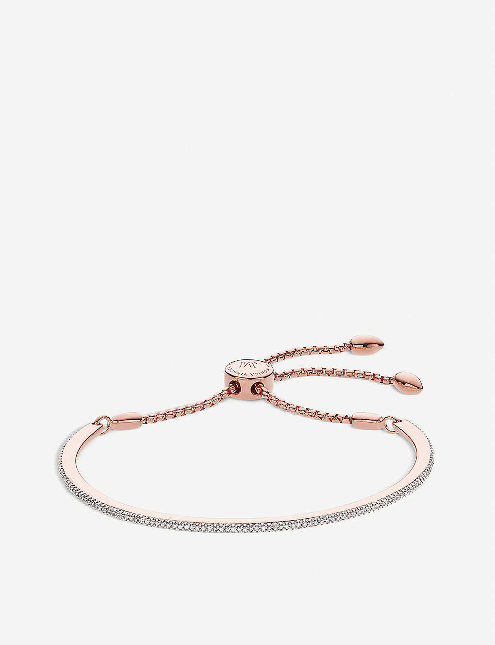 6f0c014cf91e2 MONICA VINADER - Fiji skinny bar 18ct rose gold vermeil friendship ...