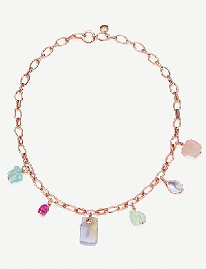 MONICA VINADER Monica Vinader x Caroline Issa 18ct rose gold-vermeil and gemstone necklace