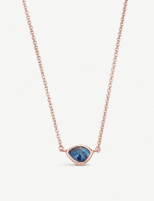 MONICA VINADER Siren Mini Nugget 18ct rose gold vermeil and Kyanite necklace