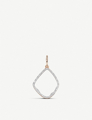 MONICA VINADER Riva Hoop 18ct rose-gold vermeil and pavé diamonds pendant