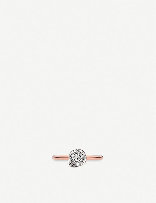 MONICA VINADER Nura Pebble 18ct rose-gold and diamond stacking ring