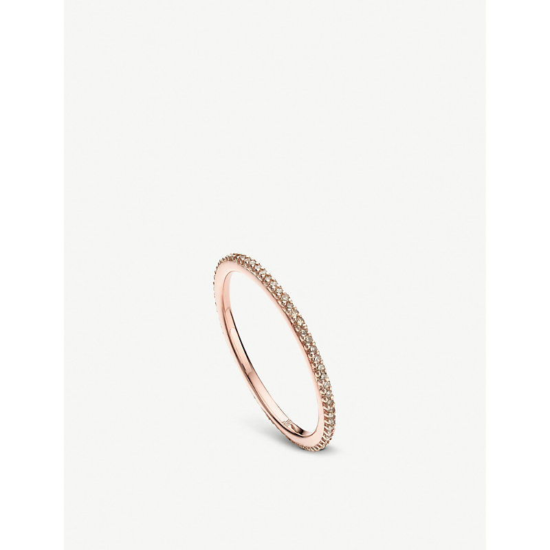 MONICA VINADER   18ct Rose-Gold Champagne Diamond Eternity Ring   Goxip