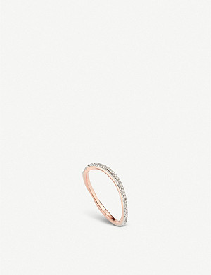 MONICA VINADER Riva 18ct rose-gold vermeil and diamond ring