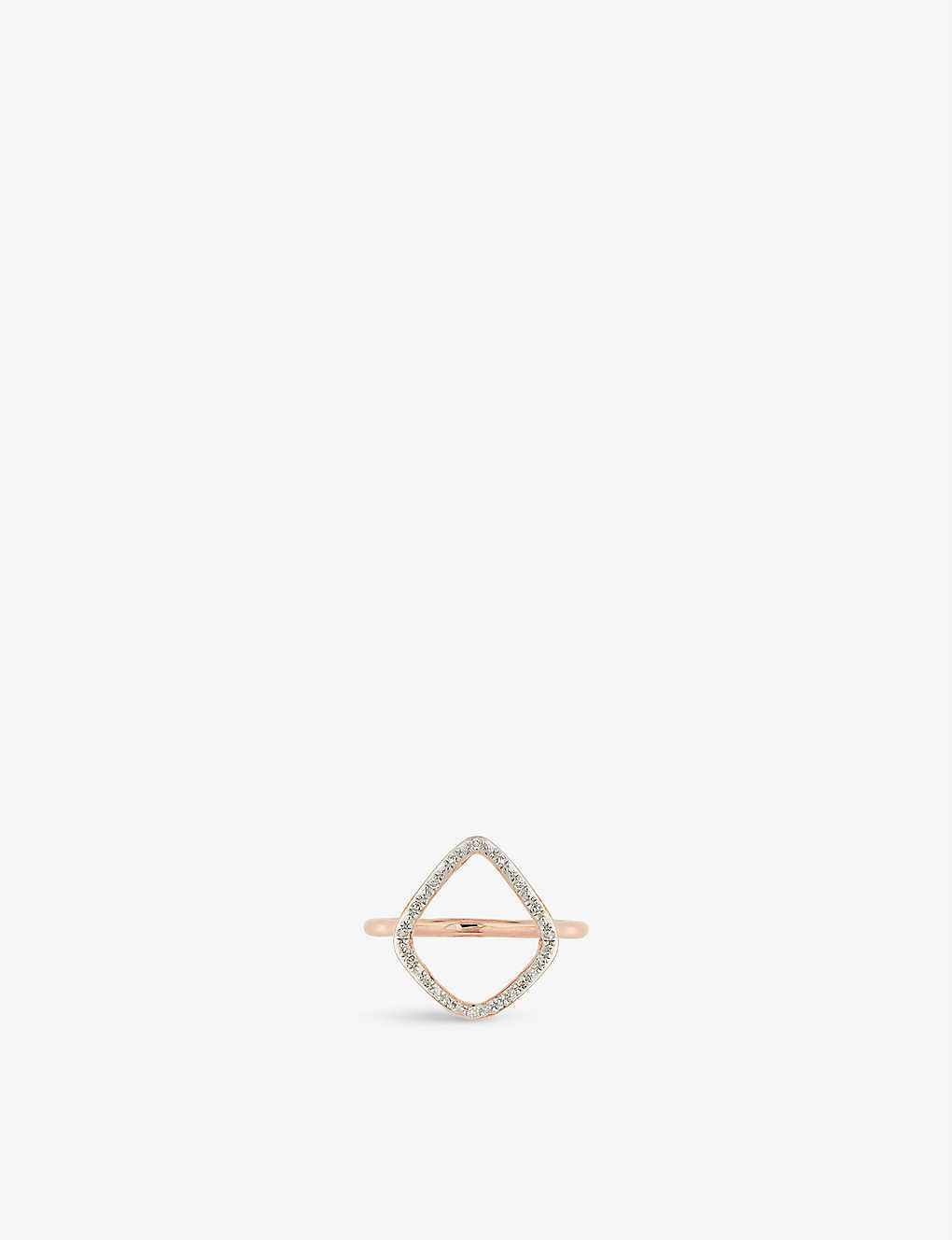 bc6e488f4a903f MONICA VINADER - Riva 18ct-rose gold plated diamond ring ...