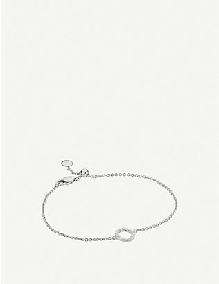 MONICA VINADER: Riva Mini Circle sterling silver and diamond bracelet