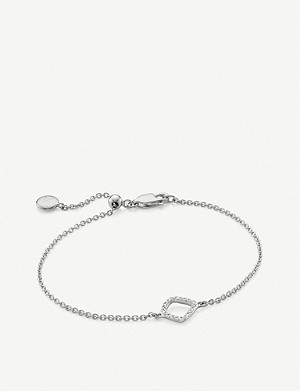 MONICA VINADER Riva Mini Kite sterling silver diamond bracelet