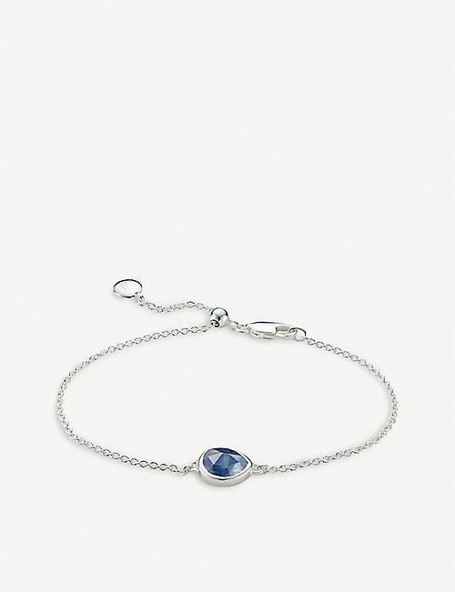 095d75b8a0f5 MONICA VINADER Siren kyanite gemstone sterling silver bracelet