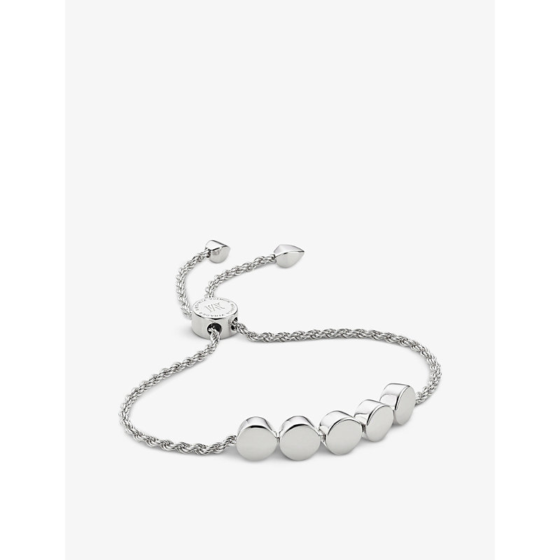 MONICA VINADER | Linear Bead 18ct Sterling Silver Plated Friendship Bracelet | Goxip
