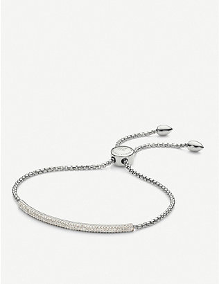 MONICA VINADER: Fiji Mini Bar diamond and sterling silver bracelet
