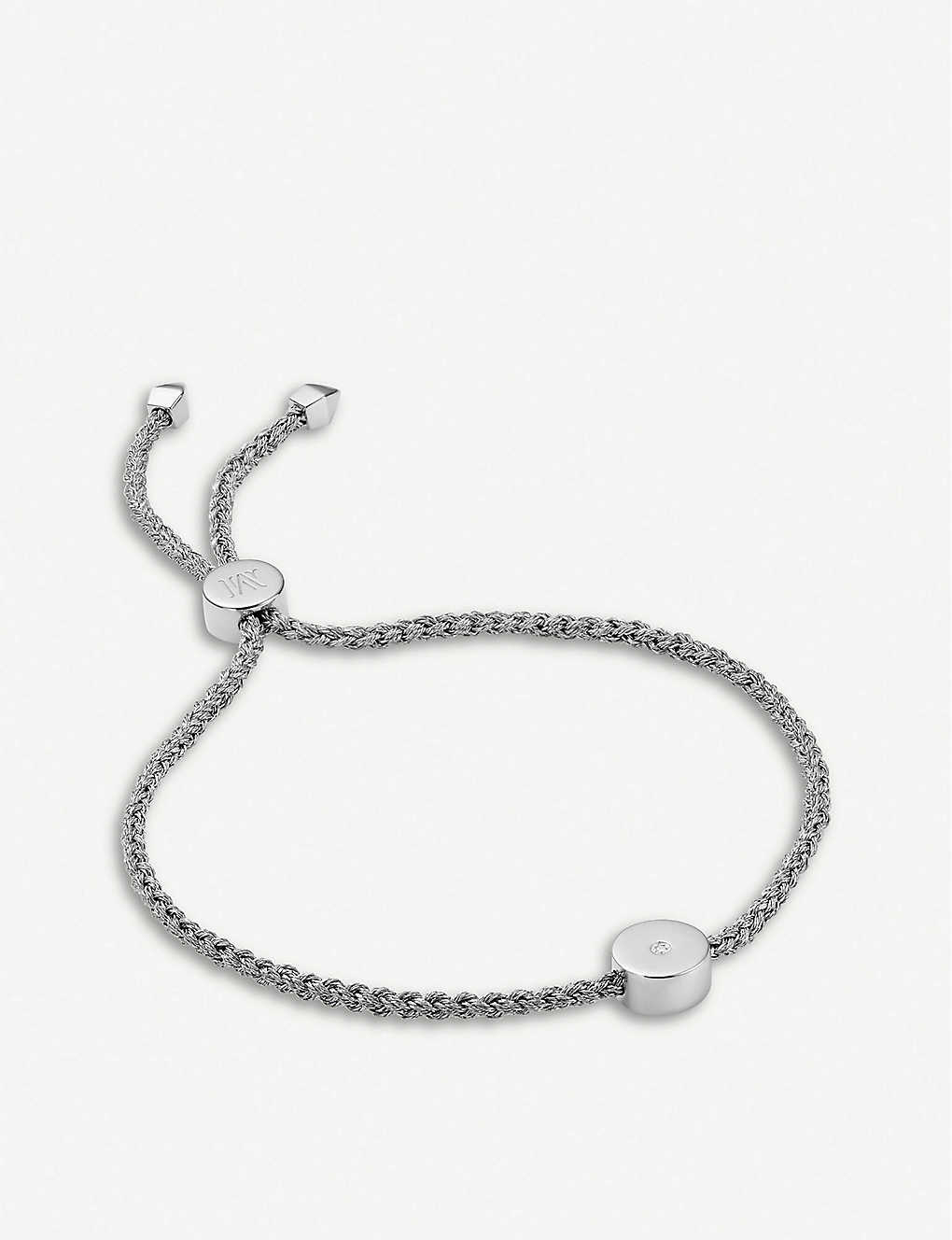 a3ad0c608 MONICA VINADER - Linear Solo sterling silver and diamond friendship ...