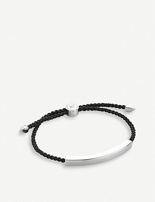 MONICA VINADER: Linear sterling silver friendship bracelet