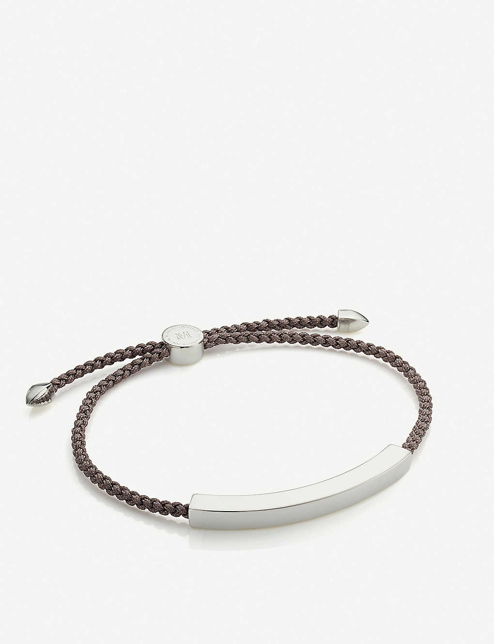 170ae6d84 MONICA VINADER - Linear sterling silver friendship bracelet ...