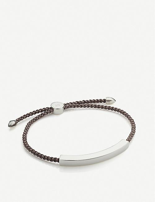 65bc630c579d MONICA VINADER Linear sterling silver friendship bracelet