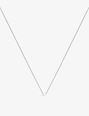 "MONICA VINADER Sterling silver adjustable 15-17"" rolo chain"