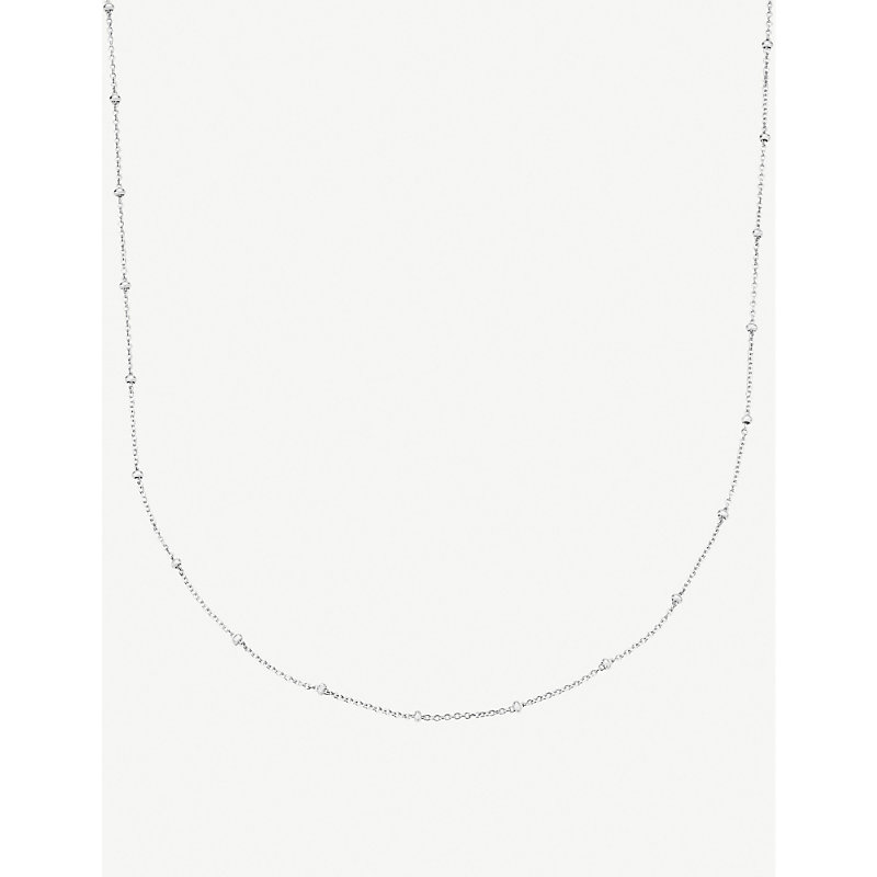 MONICA VINADER | Sterling Silver Chain Necklace | Goxip